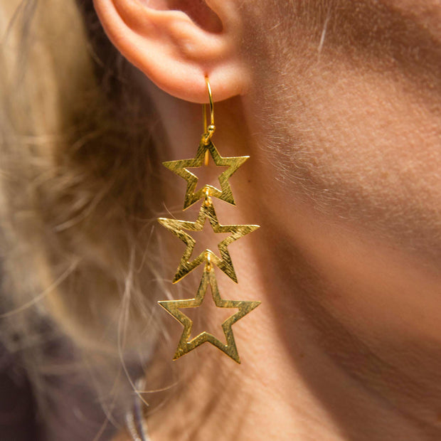Triple Open Star Earring - LÁTELITA - 4