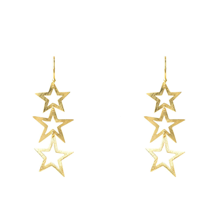 Triple Open Star Earring - LÁTELITA - 2