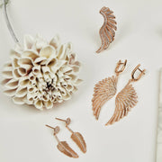 Gabriel Angel Wing Ear Climber Rosegold