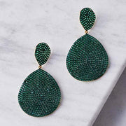 Monte Carlo Earring Gold Emerald Zircon - LATELITA
