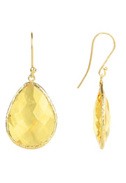Single Drop Earring Citrine Hydro Gold - LATELITA