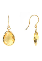 Petite Drop Earring Citrine Hydro Gold - LATELITA