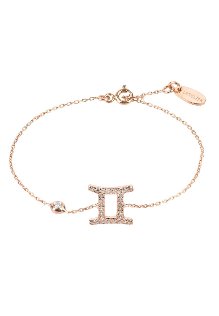 Zodiac Horoscope Star Sign Bracelet Gemini - LATELITA