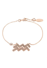 Zodiac Horoscope Star Sign Bracelet Aquarius - LATELITA