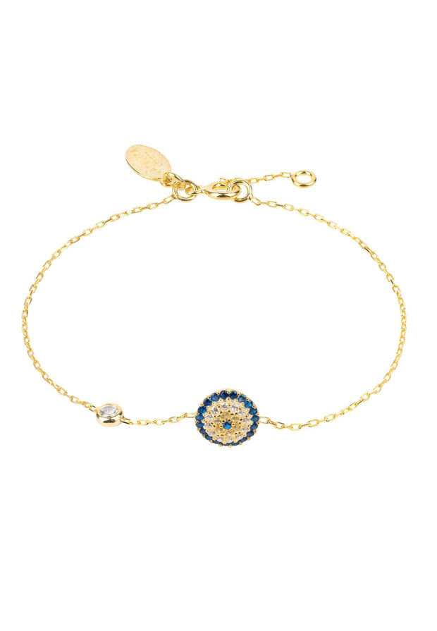 Evil Eye Bracelet Gold - LATELITA