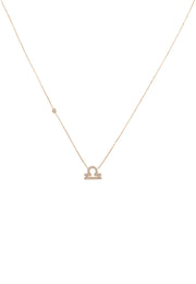 Zodiac Star Sign Pendant Necklace Rose Gold Libra - LATELITA