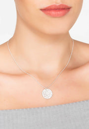 Cosmic Full Moon Necklace - White Topaz - LATELITA