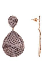 Monte Carlo Earring Rosegold Light Pink - LATELITA