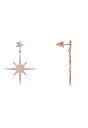 Petite Star burst Drop Earring Rosegold - LATELITA