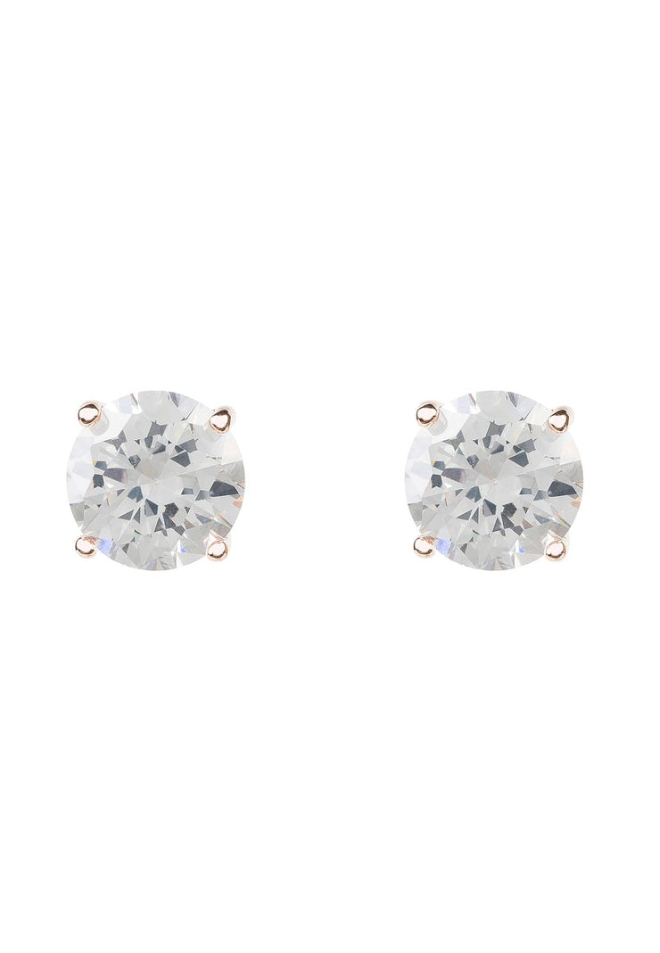 Solitaire CZ Earring rosegold - LATELITA