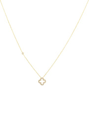 Open Clover Pendant Necklace - LATELITA