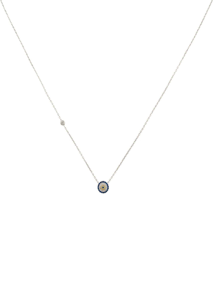 Evil Eye Necklace Silver - LATELITA