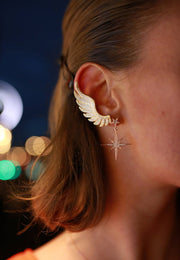 Gabriel Angel Wing Ear Climber Gold - LATELITA