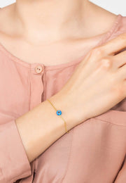 Evil Eye Mini Opalite Bracelet Gold - LATELITA