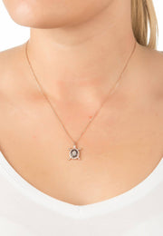 Turtle Chocolate Pendant Necklace Pink Rose Gold - LATELITA