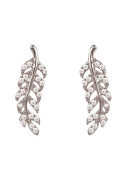 Leaf Ear Climbers Silver - LATELITA
