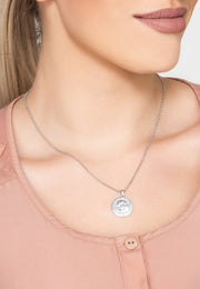 Roman Coin Pendant Necklace silver - LATELITA
