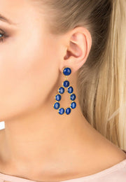 Hatun Gemstone Statement Earrings Gold Lapis Lazuli - LATELITA