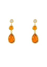 Tuscany Gemstone Drop Earring Gold Citrine - LATELITA