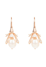 Pearl Honey Bee Earring Rosegold - LATELITA