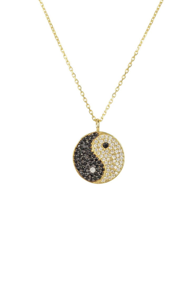 Yin and Yang Pendant Necklace Gold - LATELITA