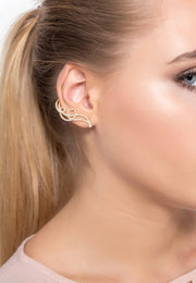 Shooting Star Ear Climber Silver - LATELITA