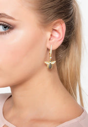 Honey Bee Drop Earring gold - LATELITA