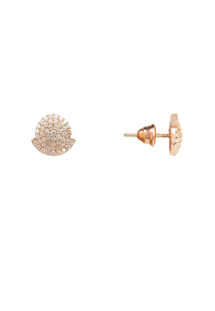 Tribal Ear Jacket & Stud Earring rosegold - LATELITA