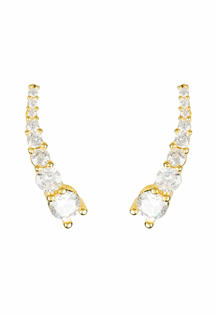 Graduated Ear Climber Pair Gold - LATELITA