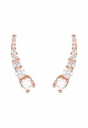 Graduated Ear Climber Pair Rosegold - LATELITA