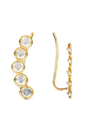 Bubble Ear Climber Pair Gold - LATELITA