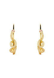 Cleopatra Serpent Snake Hoop Earrings gold - LATELITA