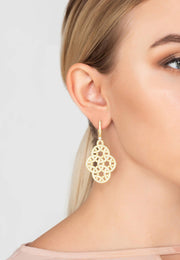 Celtic Knot Aoife Drop Earring gold - LATELITA