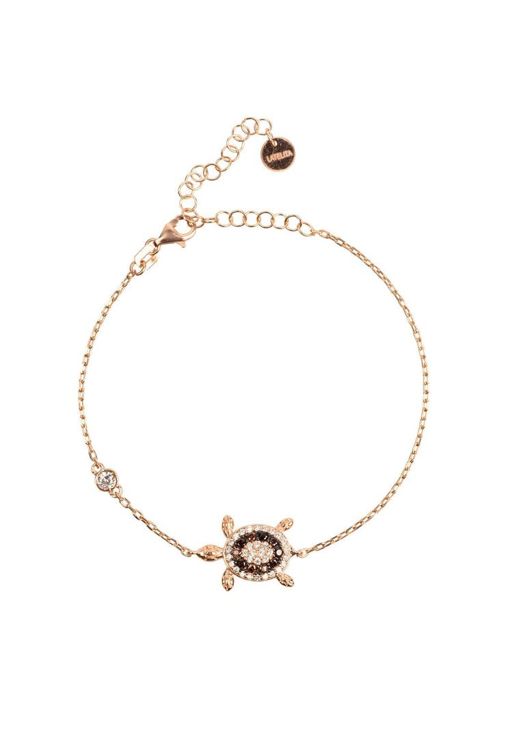 Turtle Chocolate Bracelet Pink Rosegold - LATELITA
