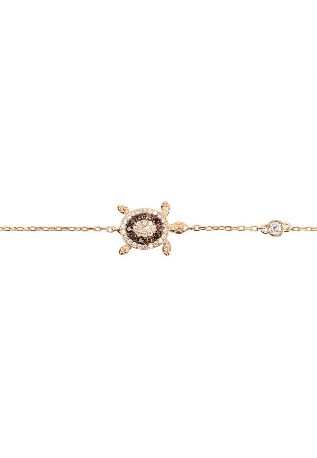 Turtle Chocolate Bracelet Pink Rose Gold - LATELITA