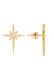 North Star Small Stud Earring Gold - LATELITA