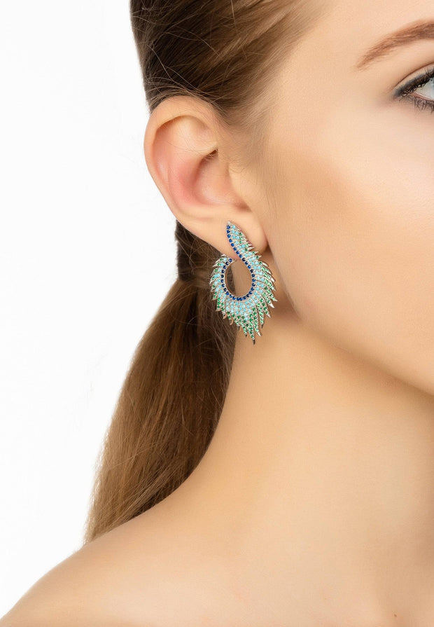 Flame Earrings Cold Ice Silver - LATELITA