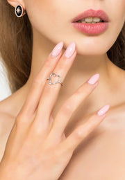 Heart Midi Pinky Ring Silver - LATELITA