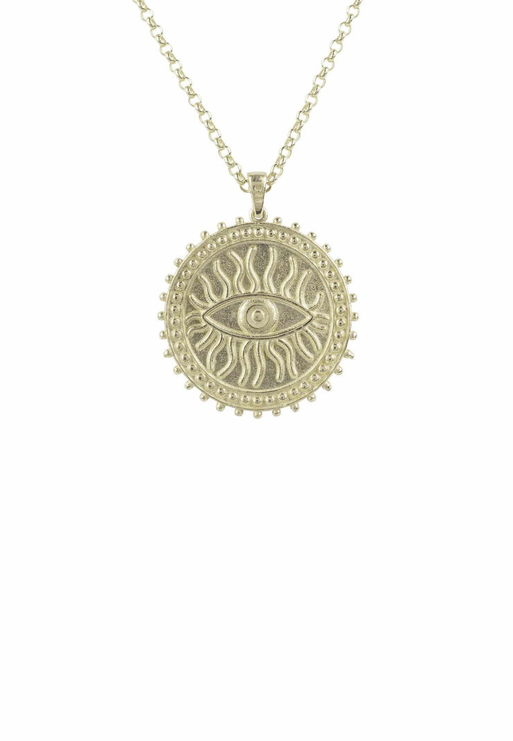 Reversible Moral Compass Starburst Pendant Necklace Gold - LATELITA