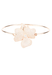 Flower Large Statement Cuff Bracelet rosegold - LATELITA