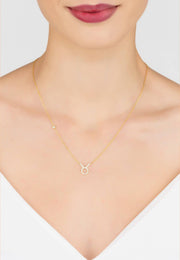 Zodiac Star Sign Pendant Necklace Gold Taurus - LATELITA