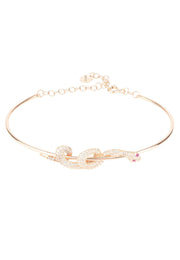 Cleopatra Serpent Snake Bangle Bracelet Rosegold - LATELITA