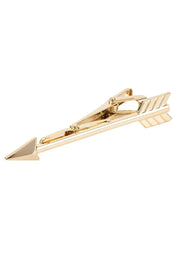 Arrow Mens Tie Clip Gold - LATELITA