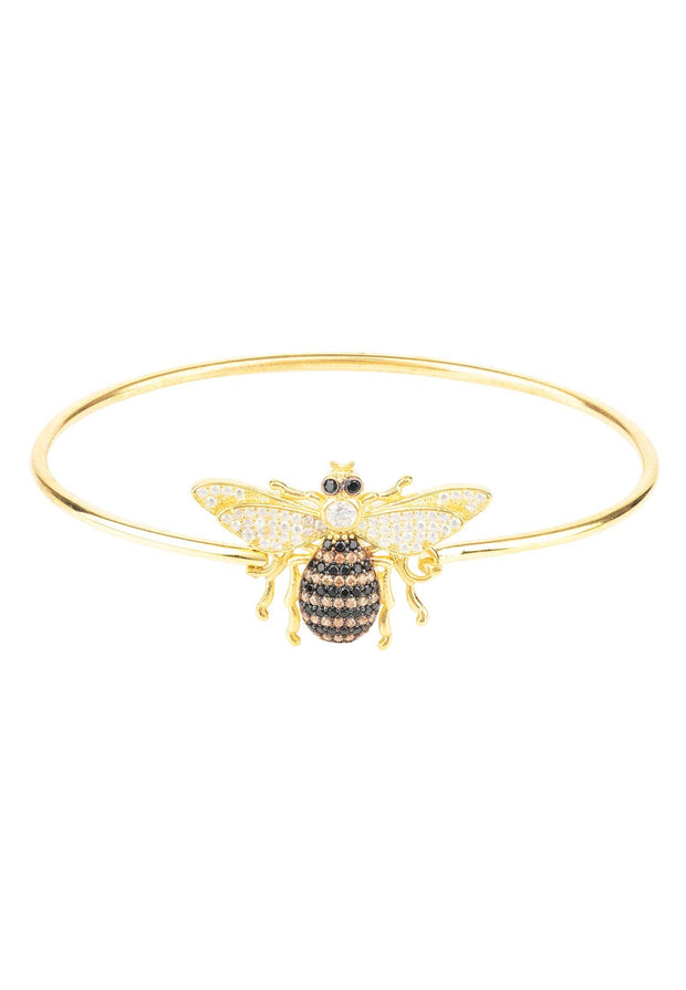 Honey Bee Bangle Bracelet Gold - LATELITA