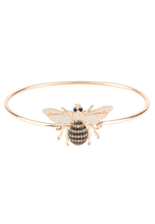Honey Bee Bangle Bracelet Rosegold - LATELITA