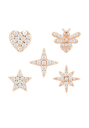 Mix & Match Mini Stud Earrings Rosegold - LATELITA