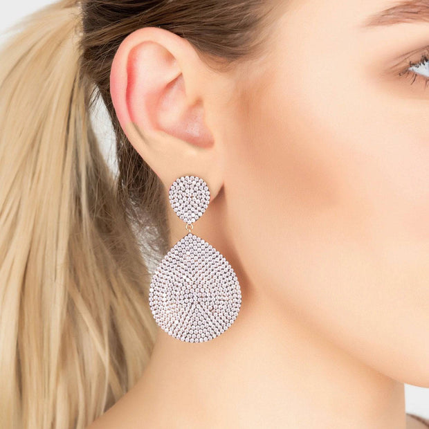 Monte Carlo Earring Rosegold Light Pink