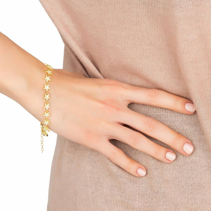 Star Strand Tennis Bracelet gold - LATELITA