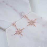 Petite Star burst Drop Earring Rosegold