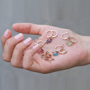 Pisa Mini Teardrop Earring Rosegold Smokey Quartz - LATELITA